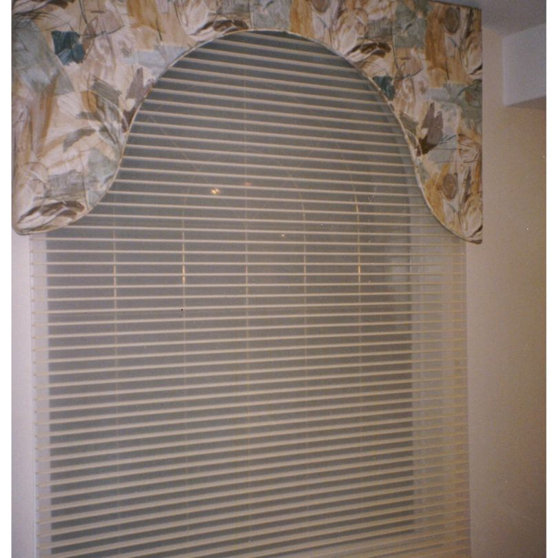 Arch Mimic Upholstered Valance with Silhouette shade