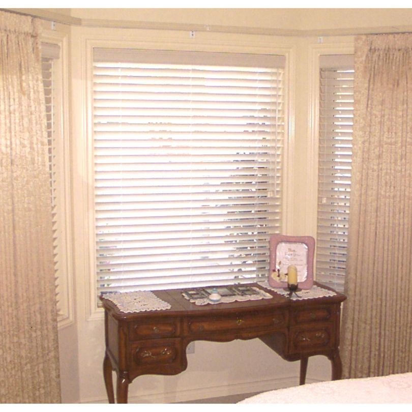 Bay Window Pinch Pleat Drapery