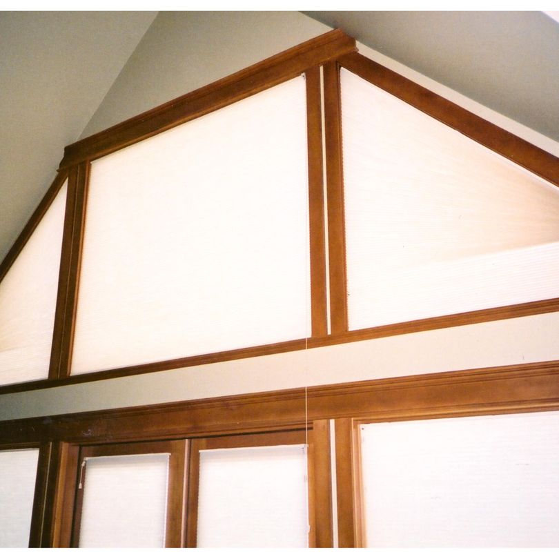Angle Top operable Duette Blinds